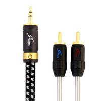 MPS X 7 Leopard HiFi 99 9997 OCC 24K Gold Plated Plug 3 5mm To 2