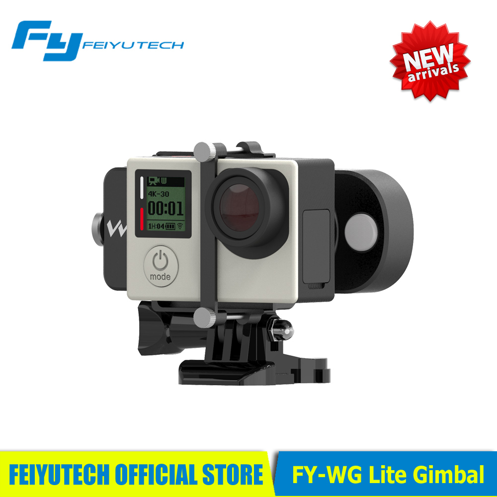 FY WG Lite Feiyu Wearable Gimbal Affordable Single Axis Gimbal Stabilizer for Gopro 3 3+4 Camera PK WG/Zhiyun Smooth C/DJI Osmo feiyu tech fy wg lite single axis wearable camera gimbal