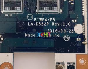 Image 4 - Pour Lenovo Ideapad 110 15ISK w SR2EU i3 6100U CPU P/N: 5B20M41058 BIWP4/P5 LA D562 DDR4 carte mère dordinateur portable testé