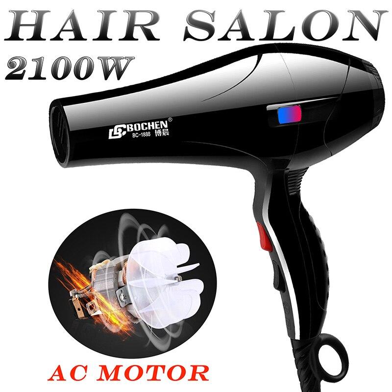 For hair salon EU Plug AC Motor 2100W salon Hot cold air adjustment high quality Professional hair dryer blow dryer hairdryer rechargeable hair clipper w eu plug
