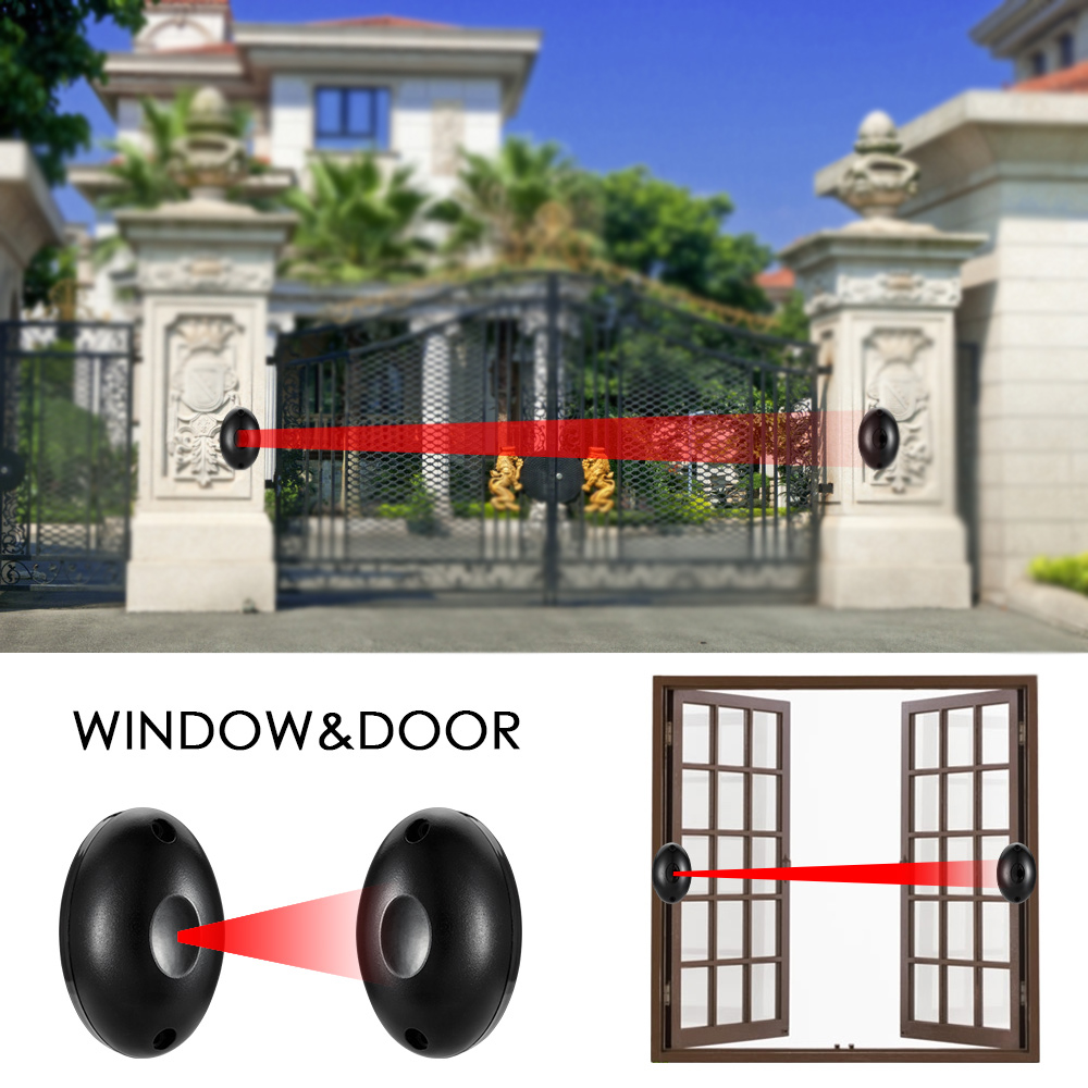 Waterproof Active Photoelectric Single Infrared Gate Beam Alarm Sensor Barrier Detector For Gate Door Window Burglar Alarm