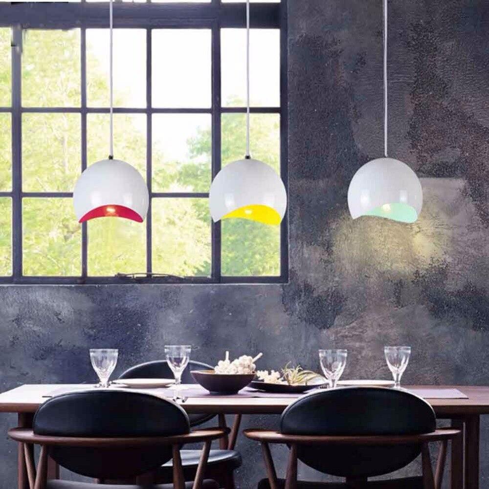 Nordic Pendant Lights Fixtures Aluminum Lampshade Industrial Lighting Loft Lamparas Dining Room Pendant Lamp Hanglamp E27 Light