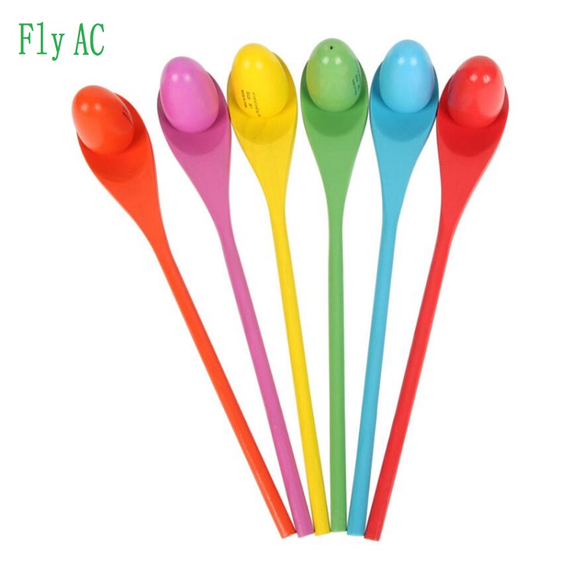 Children Balance Wood Spoon Care Ball Early Education Outdoor Interactive Training Game Toys For Children 6 Pcs/sets