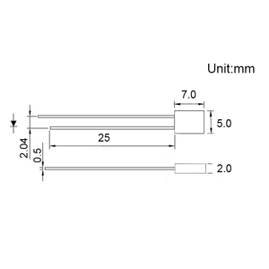 Прямоугольная Светодиодная лампа 20mA 6000-9000 K, 100 шт., 2X5X7mm
