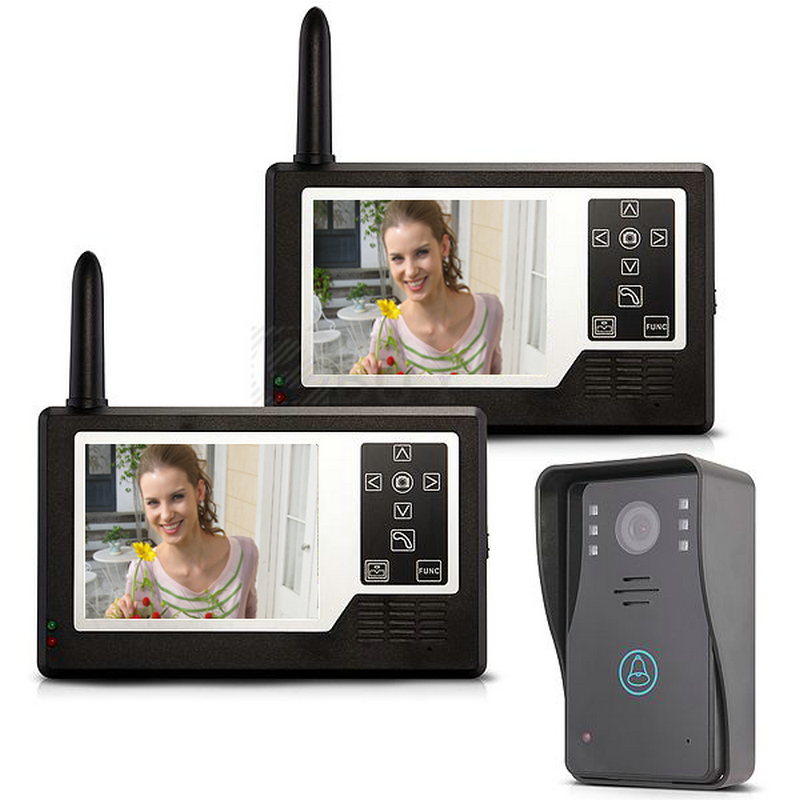 Video Door Phone Video Intercom 2 Monitor Doorbell Camera Intercom Kit IR Night Vision 3.5 Color screen for Home/Apartment 7 color video door phone intercom system 1 monitor doorbell 2 camera intercom kit ir night vision camera for apartment 816a21