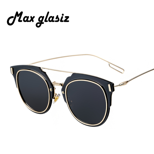 2016 Newest Fashion Men Brand Designer  Metal Frames Women Sunglasses Mirror lenses Eyewear lunette de soleil