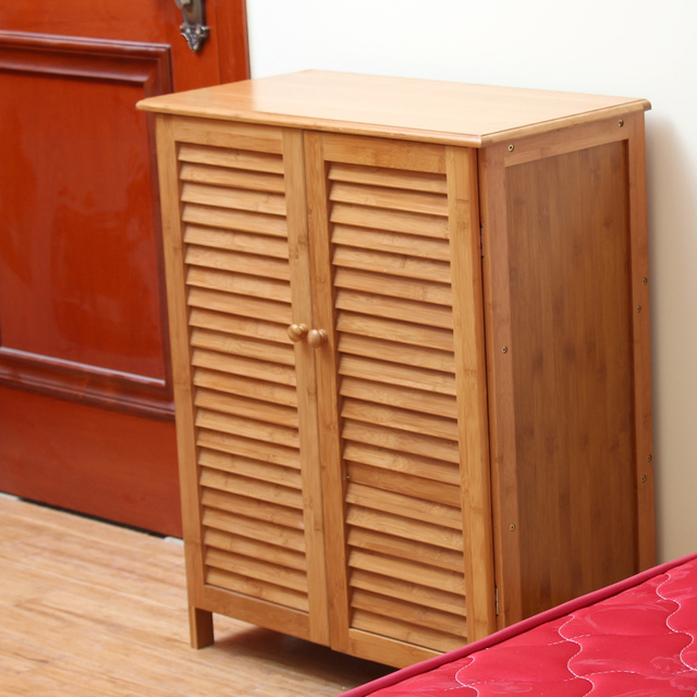 IKEA Creative Modern Minimalist Bamboo Shutters Foyer Storage Storage  Cabinets Shoe Shoe Rack Wood Entrance Continental