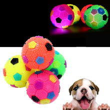 Interactive Squeak Dog Toys Pets Dogs Flashing Football Pet Training Cat Toy Ball Puppy Chew Play Supplies