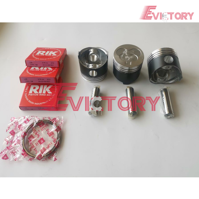 For Mitsubishi Engine L3E Piston + Piston Ring Set 21mm Piston Pin Size