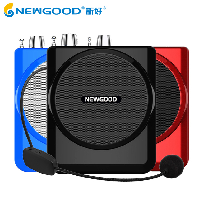Portable Voice Amplifier with 2.4G Wireless Microphone for Teachers Tourguides Megaphone Column Booster Loudspeaker FM radio