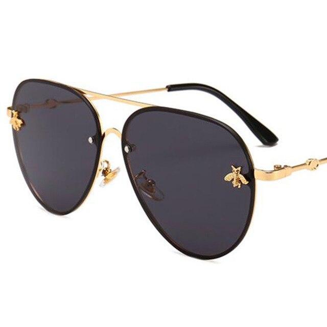 Abelha Piloto óculos de Sol Óculos Shades Para Mulheres Dos Homens do Metal  Do Vintage Quadro a919d34974