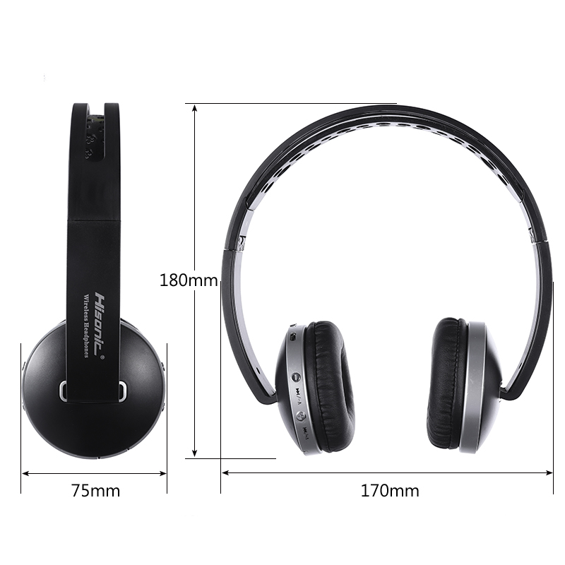 Hisonic Trådløse Hovedtelefoner Bluetooth Headset Stereo Foldbare - Bærbar lyd og video - Foto 5