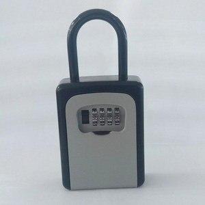 Image 4 - 新 4 桁コンビネーションロックキーセーフストレージボックス南京錠セキュリティホーム屋外用品 DC128