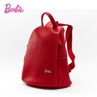 Barbie 2017 Mujeres mochilas de Cuero rojo de LA PU señoras de la manera Bolso Crossbody de las mujeres simple styel de Gran volumen