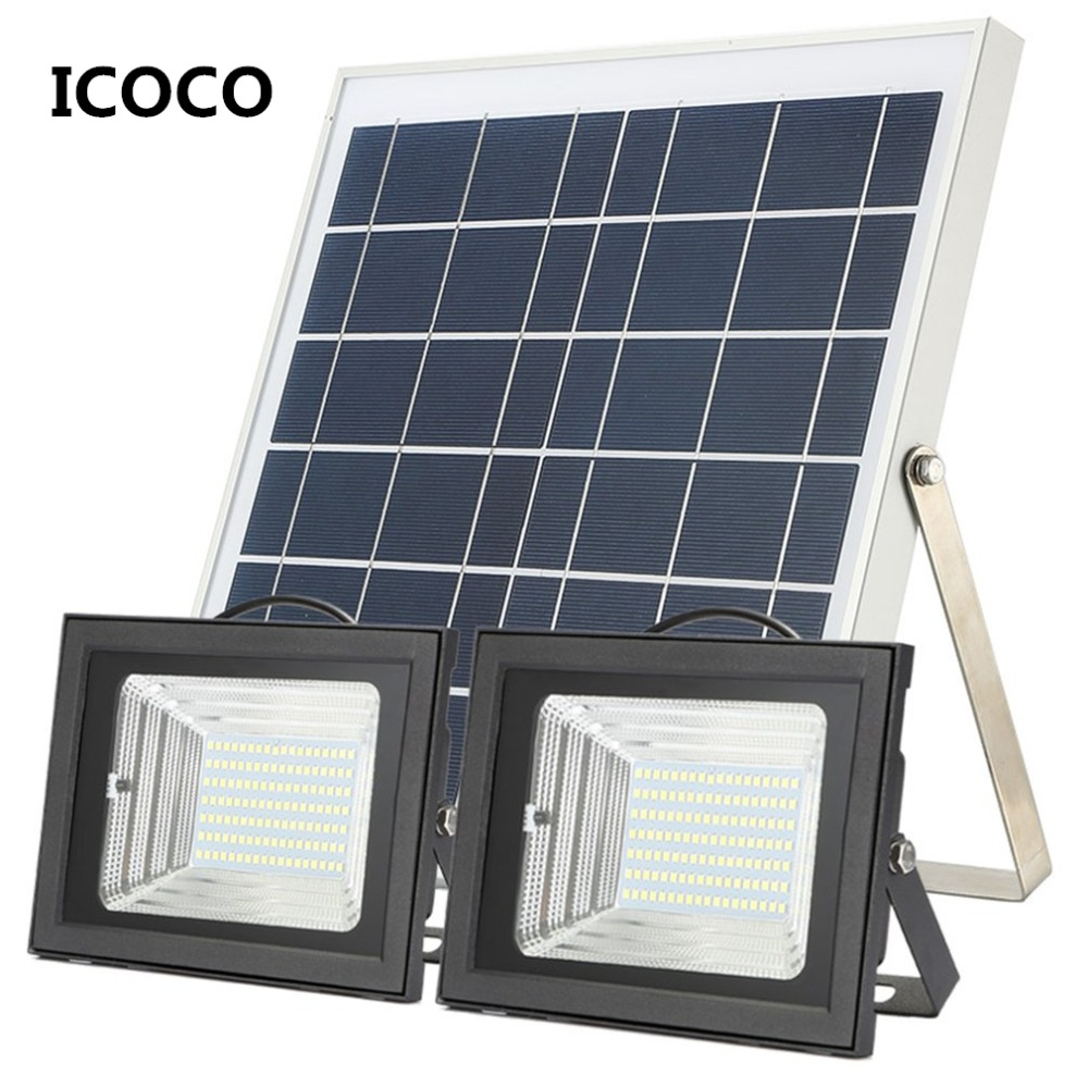 Tipo Split PIR Sensor de movimiento de la lámpara Solar de Control remoto 6 W/10 W Panel Solar de interior al aire libre para jardín al aire libre de la iluminación - 6