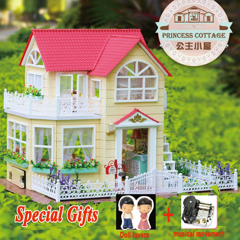 DIY Miniature Wooden Dollhouse Furniture PRINCESS COTTAGE Large Toy House Lover Girl Birthday Christmas Gift Toys Decorations фигурка princess lover yu fujikura