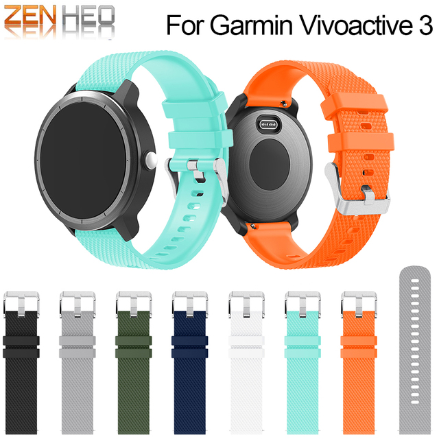 Silicone Watch Strap Wristband For Garmin Vivoactive 3/Forerunner 645 For Samsung Gear S2 Sport Replacement Watch Accessories
