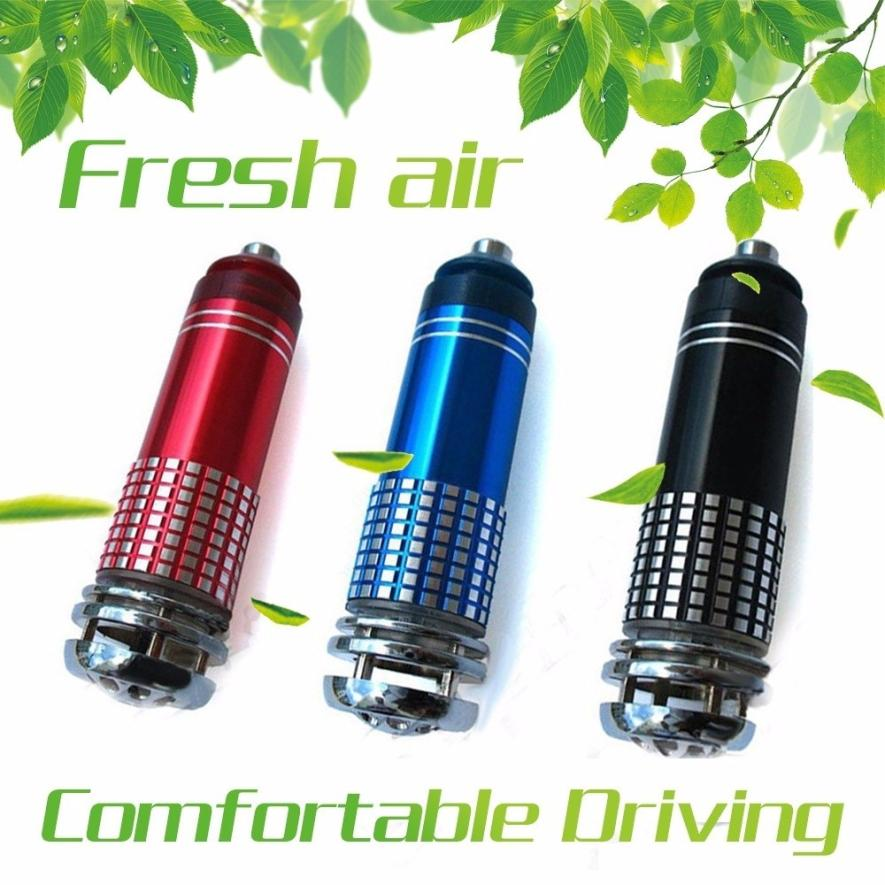 Vehicle Air Purifier Mini Auto Car Fresh Air Anion Lonic Purifier Oxygen Bar Interior Accessories DC12V Ozone Lonizer 18Apr6