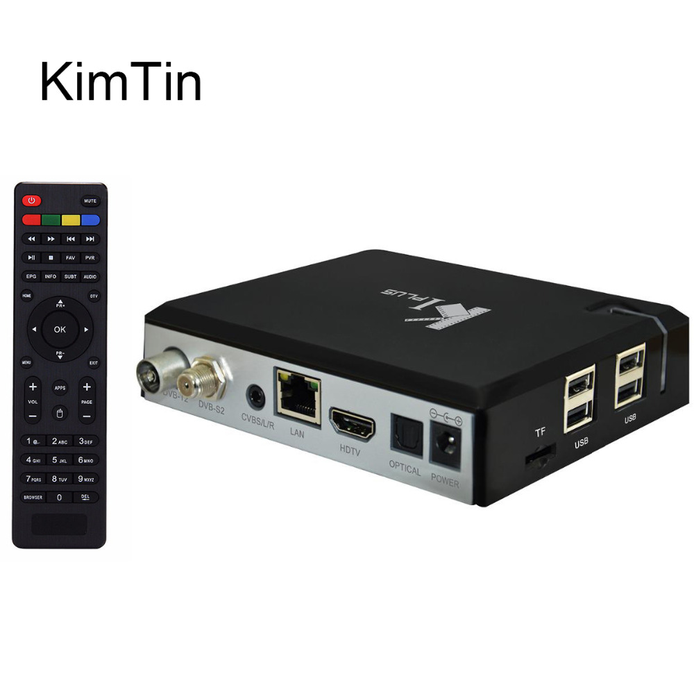 2016 New KI PLUS +T2 S2 Amlogic S905 Quad core 64-bit Support DVB-T2 DVB-S2 1G/8G 1080p 4K H.265 Android 5.1 K1 plus DVB TV Box mx plus amlogic s905 smart tv box 4k android 5 1 1 quad core 1g 8g wifi dlna потокового tv box