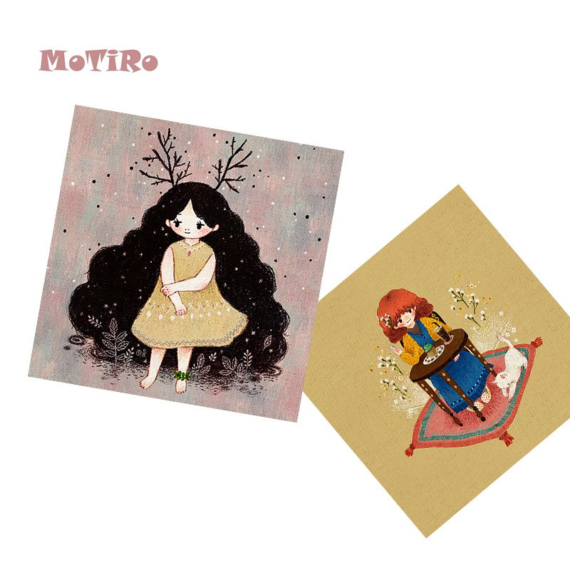 Arts,crafts & Sewing Fabric Forceful Motiro,2pcs/lot,cotton Linen Fabric,cartoon Pattern Plain Hand Dyed Cloth Of Table Mat/mouse Pad/apron Pocket/pillow Decoration Sophisticated Technologies