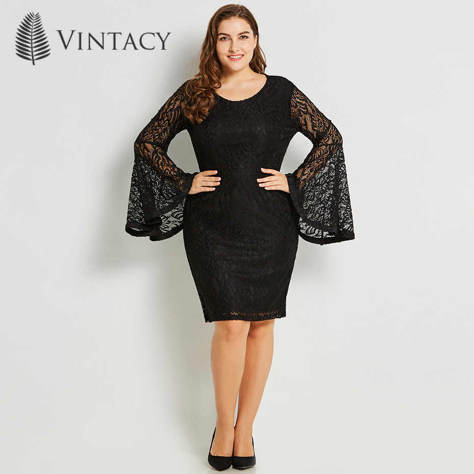 Detail Feedback Questions about Women Lace Bodycon Dress Long Flare ...