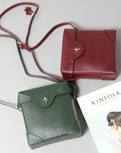 Women Vintage Box Small Sling Bag 2016 New Autumn Winter Shoulder Cross-body Lady Leather Messenger Bag Purse