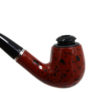 Image 3 - Insieme di fumo di Legno di Ebano Tubo di Fumo A Mano Marrone Tabacco Da Pipa Tubi di 12 centimetri di Legno Classico Tubo Piegato Regalo di Sigaretta Sigaro tubo