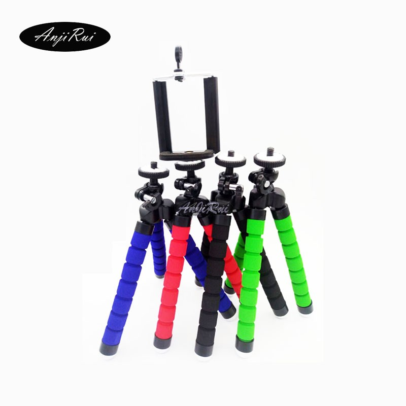 Flexible Foam Legs Octopus font b Tripod b font Stand adapter for GoPro SLR DSLR DV