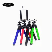 Versatile Foam Legs Octopus Tripod Stand + adapter for GoPro SLR DSLR DV Digital camera Small Digital camera Holder Stand for Huawei P8lite
