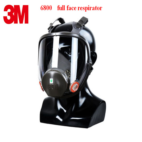 3M 6800 respirator mask high quality rubber full face respirator PC Mirror adapt Toxic gas Painting pesticide protective mask 3m 6300 6003 half facepiece reusable respirator organic mask acid face mask organic vapor acid gas respirator lt091