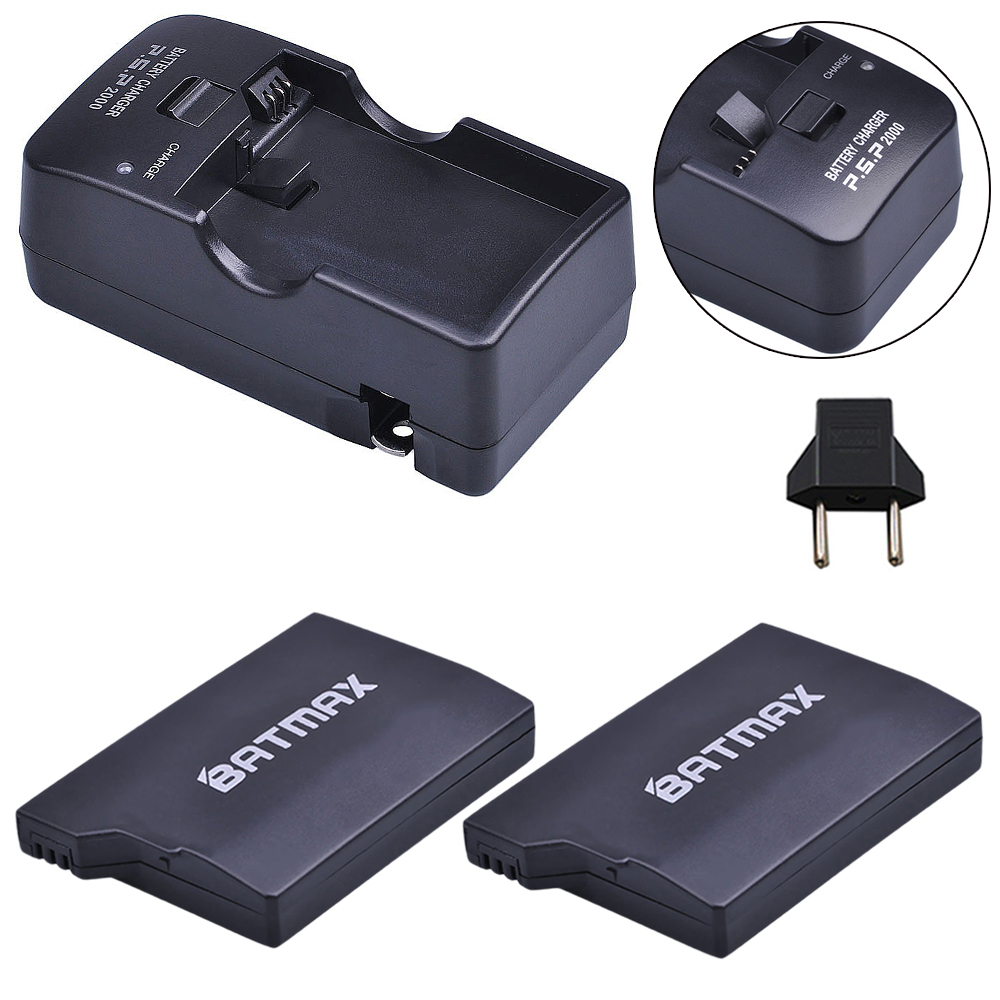 2Pcs 3 6V 2400mAh Batteries Charger Kits for Sony PSP2000 PSP3000 Console