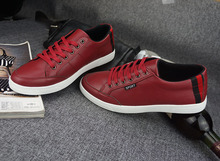 Popular Walking Shoes Men Red Shoes Men male shoes Cow split Breathable Sweat-Absorbant 9 size and 6 difference colors