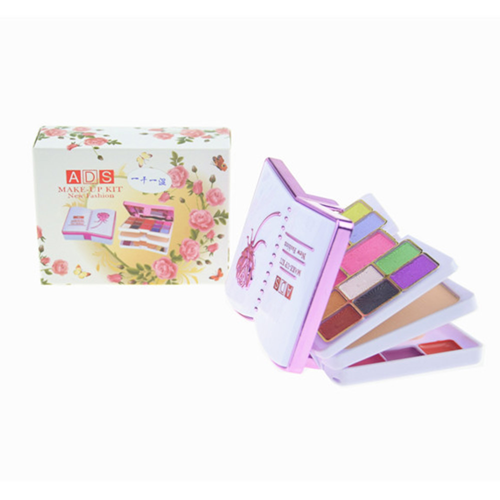 Colorful 20 colors primer Makeup eye shadow palette set Cute Kids Shimmer eyeshadow lip gloss Blusher Stage Cosmetics tool kit