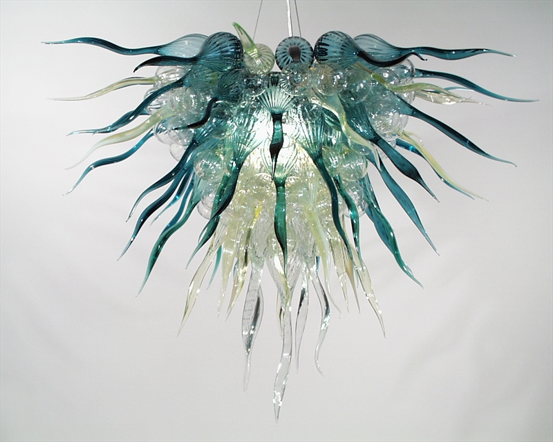 Contemporary oliver green Handmade Blown Glass Style Chandelier Lighting -LR284Contemporary oliver green Handmade Blown Glass Style Chandelier Lighting -LR284