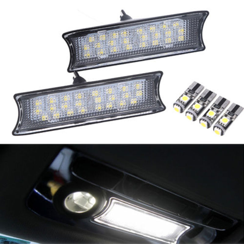 1 Pair White 24 LED Light Car Interior Roof Dome Ceiling Lamp Bulb For BMW E90 E91 E92 Daytime Running Light Auto Accessories cabasse adaptator in ceiling for alcyone pair