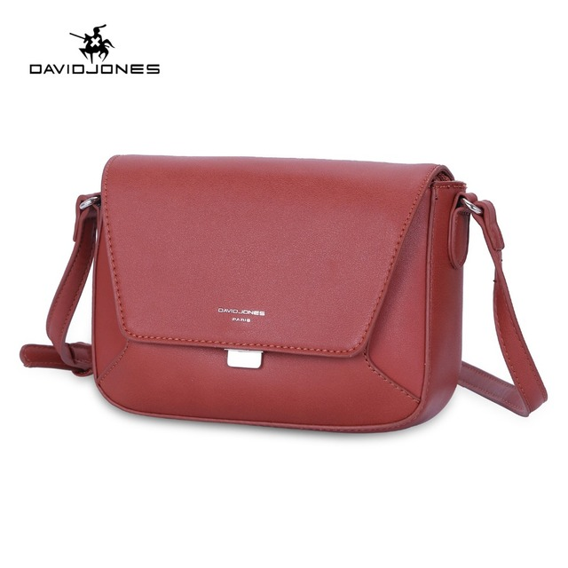 DAVIDJONES women messenger bags faux leather female handbag