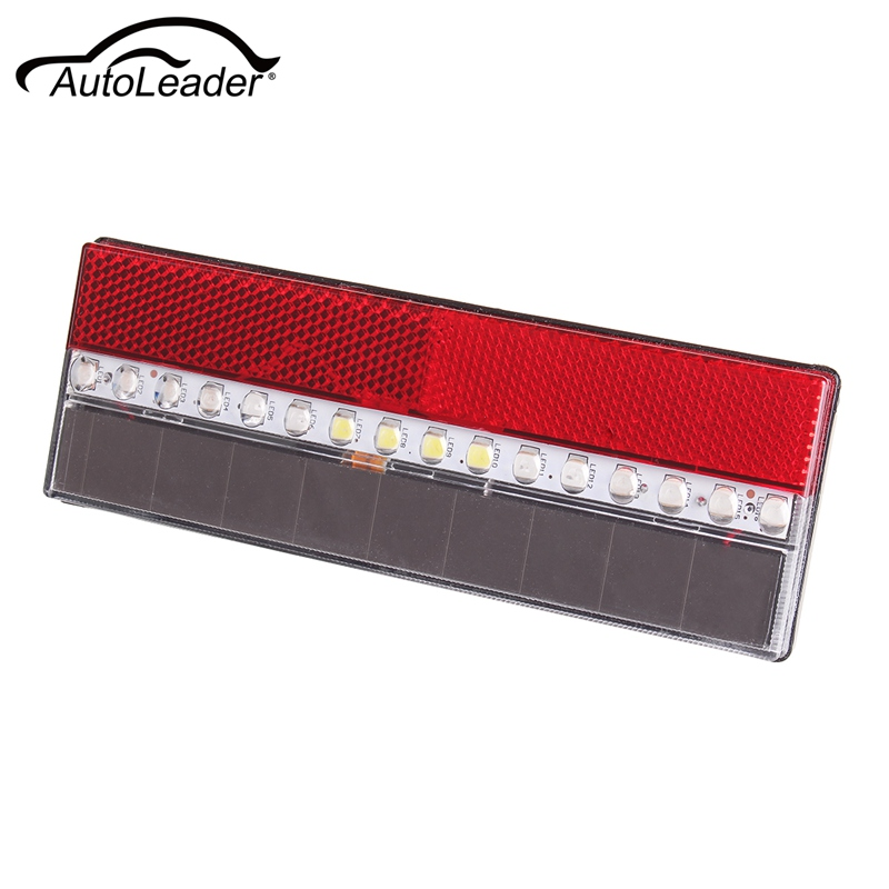 ABS Car Truck Trailer Lorry 16 LED Solar Power Side Tail Light Indication Signal Warning Lamp High Brightness RGB