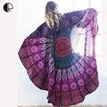 Bufanda de las mujeres de Lujo A Estrenar de Verano Grande Gasa Impreso Ronda Círculo Toalla de Playa Toallas de Playa Ropa de Playa Vestido de Verano encubrir
