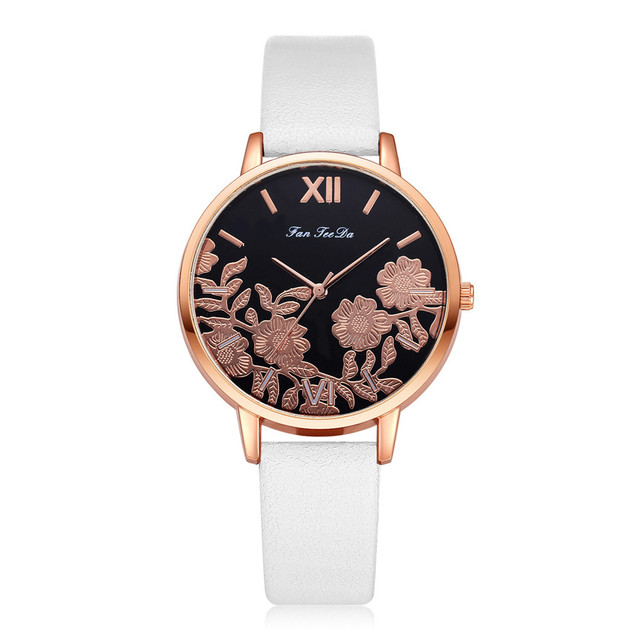 Luxury Watch Women Female Ladies Girls Unique Casual Watches Leather Band Analog