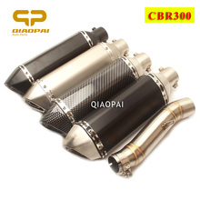 цена на Motorcycle Exhaust Muffler Link Pipe 51mm Escape Moto DB Killer Silencer For Honda CBR300 CBR 300 Akrapovic Full Exhaust System