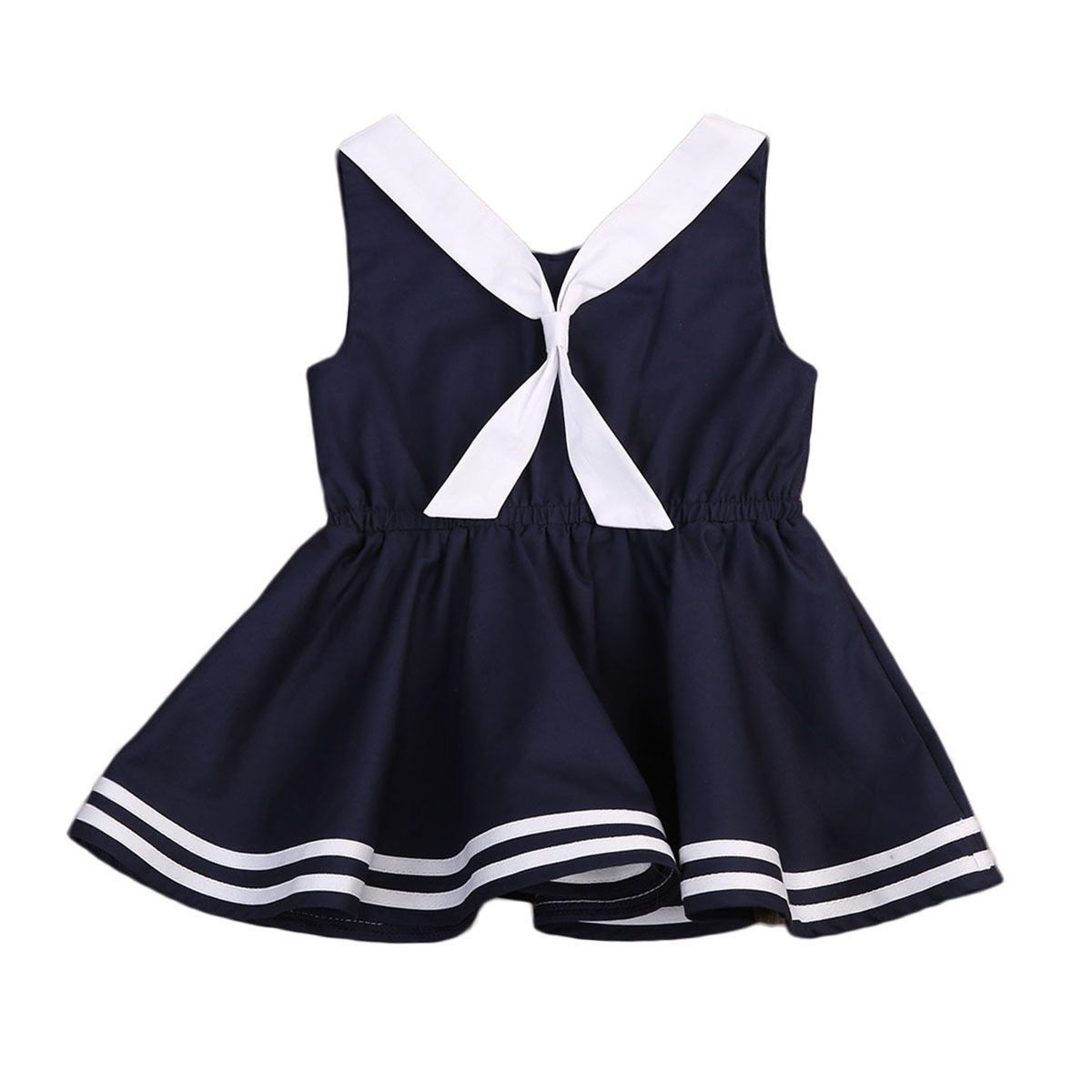 Sleeveless Casual Baby Girls Dress Tie Tutu Mini Cute Summer Party Princess Wedding Dresses Girl New