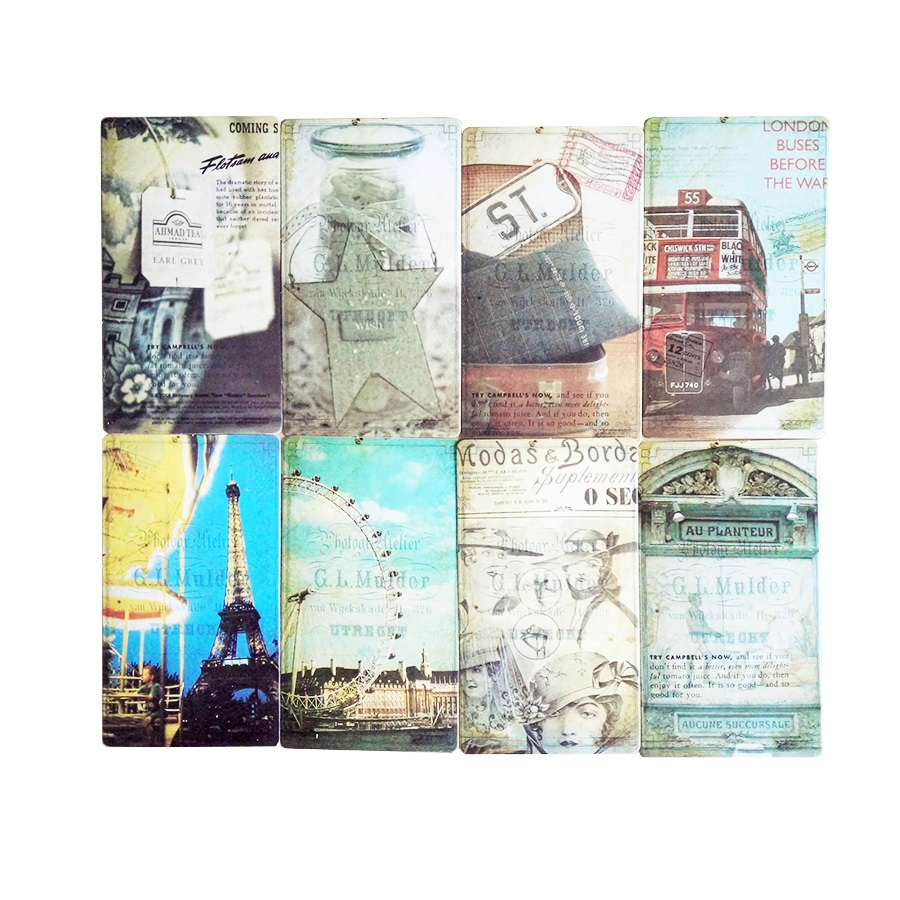 20 Pcs/pack Vintage Romantic Post Card Classic Paris Card Set Memory Postcards Can Be Mailed Greeting Card Office&School Supplie 4