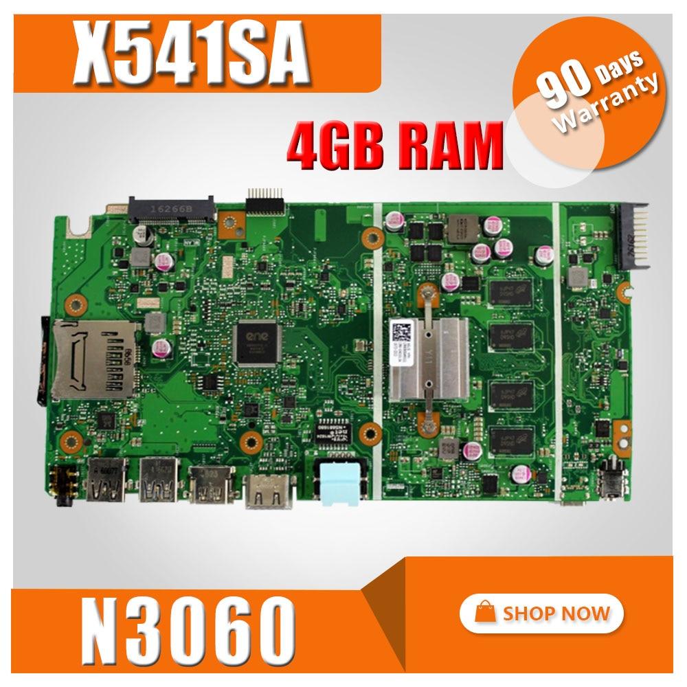 купить X541SA Motherboard N3060 CPU 4GB RAM For ASUS X541 X541S X541SA Laptop motherboard X541SA Mainboard X541SA Motherboard test OK онлайн