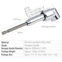 HOEN 1pcs 1 4 Hex Socket Keyless Drill Bit 105 Degree Chuck Clamp Hex Shank Adapter