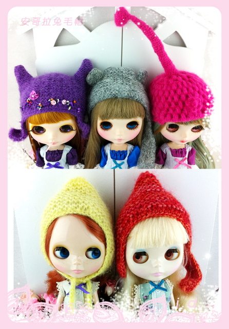 Blythe doll blythe hat rabbit fur hat