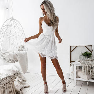 LDZHPS Sexy Lace 2018 Summer Women Dresses Casual Beach