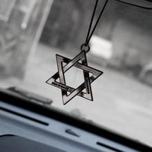 Auto Ornamenti In Metallo Unico Sei Corna Stella Automobile Interno Retrovisore Specchio Appeso Ciondolano Ornamento Decorazione Accessori