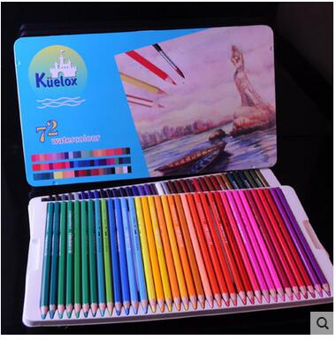 Kuelox 72colors/set Drawing Colorful Pencil Long Crayon Painting Pencil Set Colour Pencils Students Stationery School Stationery marco trolls tangled elves painting colour pen stationery set suit colour box