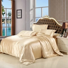 sale classic imitate silk feel satin solid coffee pink purple bedding set king size duvet cover set bedclothes bed sheet set