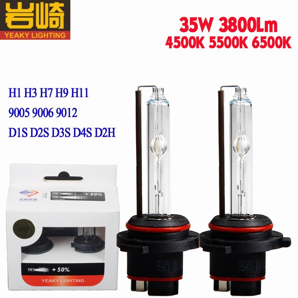 Yeaky 35w 4500K 5500K 6500K White H1 H7 H11 H9 9005 9006 D1S D2S D3S D4S D2H 9012 Auto Car Headlight HID Bulb Xenon Lamp Light